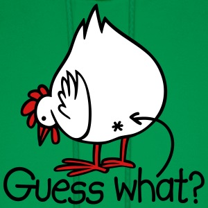 Guess what? (Chicken butt!) Hoodies - Men's Hoodie