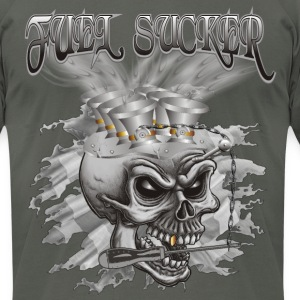 Fuel Sucker Racing Skull T-Shirts - Men's T-Shirt by American Apparel