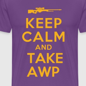 KEEP CALM AWP YELLOW T-Shirts - Men's Premium T-Shirt