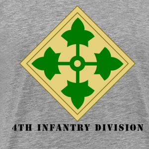 US Army 4th Infantry Division Men's Shirt - Men's Premium T-Shirt