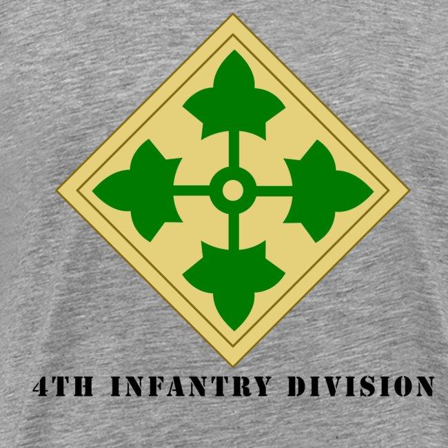 Military Veteran Pride Us Army 4th Infantry Division Mens Shirt