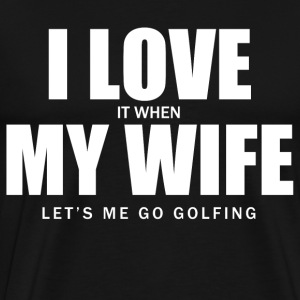 i love golf T-Shirts - Men's Premium T-Shirt