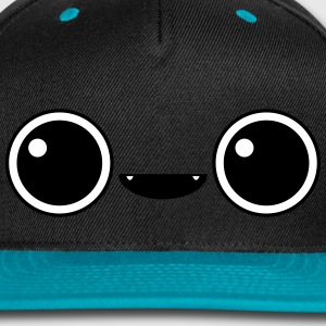Cute adorable face Caps - Snap-back Baseball Cap