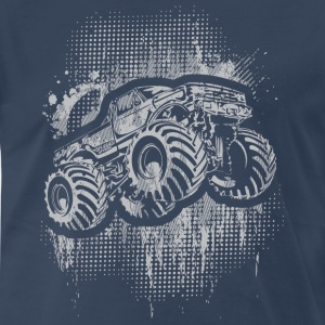 Monster 4x4 Truck grungy T-Shirts - Men's Premium T-Shirt