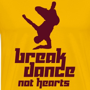 Break Dance Not Hearts (Vector) - Men's Premium T-Shirt