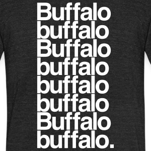 Buffalo buffalo Buffalo - Unisex Tri-Blend T-Shirt by American Apparel