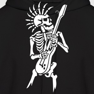 Skeleton with guitar Hoodies - Men's Hoodie