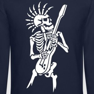Skeleton with guitar Long Sleeve Shirts - Crewneck Sweatshirt