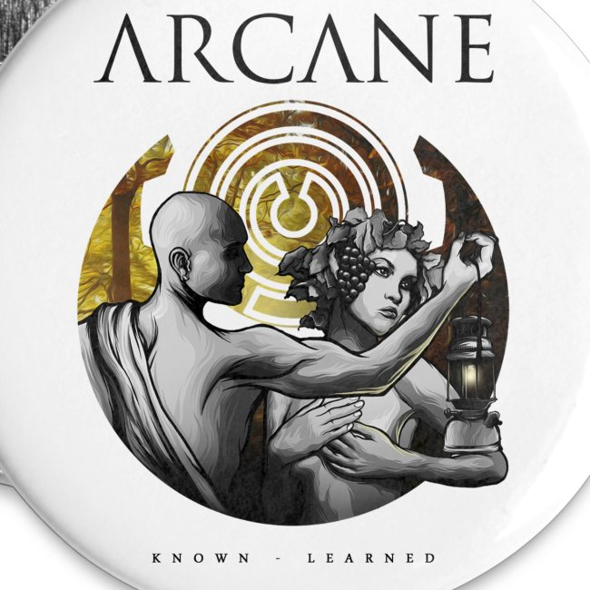 Arcane 'Known' artwork buttons [pack of 5]