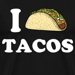 I Love Tacos T-Shirts - Men's Premium T-Shirt