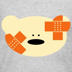 Teddy bear with plaster Long Sleeve Shirts