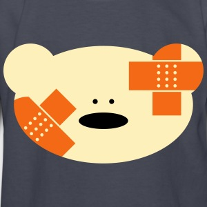 Teddy bear with plaster Kids' Shirts - Kids' Long Sleeve T-Shirt