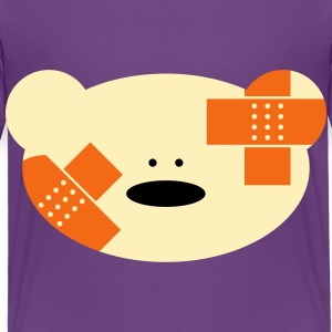 Teddy bear with plaster Baby & Toddler Shirts - Toddler Premium T-Shirt