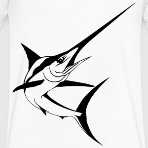marlin swordfish T-Shirts - Men's V-Neck T-Shirt by Canvas