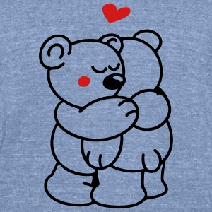 Teddys in Love T-Shirts - Unisex Tri-Blend T-Shirt by American Apparel