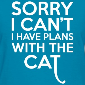 Plans With The Cat Women's T-Shirts - Women's T-Shirt