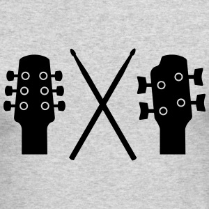 Guitar, Bass and Drums Long Sleeve Shirts - Men's Long Sleeve T-Shirt by Next Level