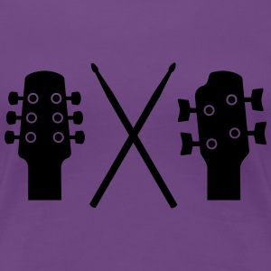 Guitar, Bass and Drums Women's T-Shirts - Women's Premium T-Shirt