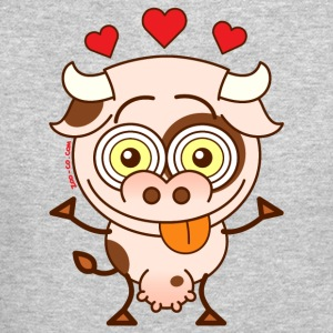 Cute cow falling madly in love Long Sleeve Shirts - Crewneck Sweatshirt