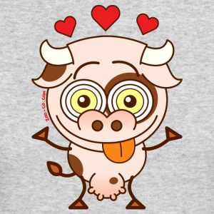 Cute cow falling madly in love Long Sleeve Shirts - Men's Long Sleeve T-Shirt by Next Level