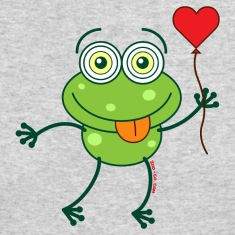Green frog falling madly in love Long Sleeve Shirts