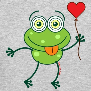 Green frog falling madly in love Long Sleeve Shirts - Crewneck Sweatshirt