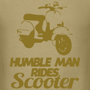 humble man rides scooter T-Shirts - Men's T-Shirt