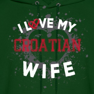 I Love My Croatian Wife Hoodies - Men's Hoodie