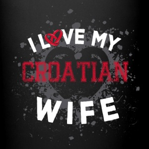I Love My Croatian Wife Mugs & Drinkware - Full Color Mug