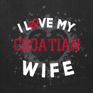 I Love My Croatian Wife Bags & backpacks - Tote Bag