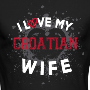 I Love My Croatian Wife Long Sleeve Shirts - Men's Long Sleeve T-Shirt by Next Level