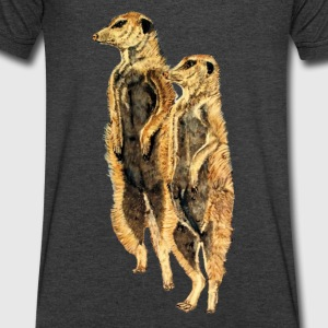The Meerkats - Men's V-Neck T-Shirt by Canvas