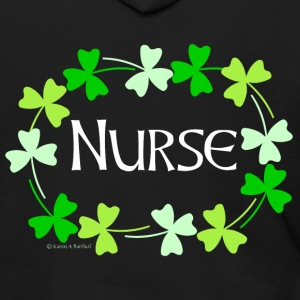 Nurse Shamrock Oval White Zip Hoodies & Jackets - Men's Zip Hoodie