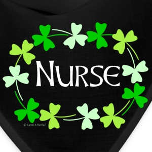 Nurse Shamrock Oval White Caps - Bandana