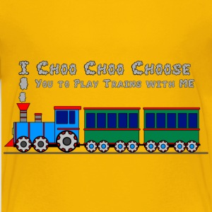 Choo Choo Toy Train Design for Kids Shirts - Kids' Premium T-Shirt