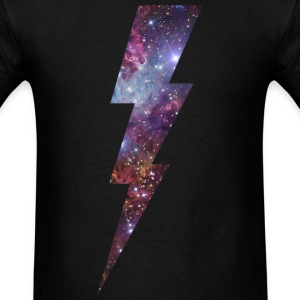 LIGTHNING BOLT AND SPACE - Men's T-Shirt