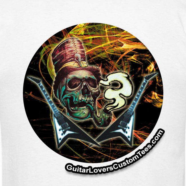 Smoking Skull with Guitars