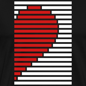 heart partner shirt right T-Shirts - Men's Premium T-Shirt