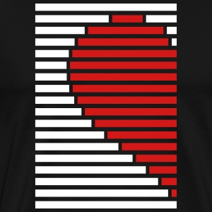 heart partner shirt left T-Shirts - Men's Premium T-Shirt