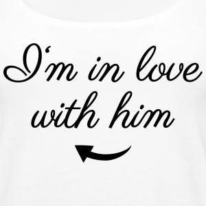 In love with him Tanks - Women's Premium Tank Top