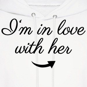 In love with her Hoodies - Men's Hoodie