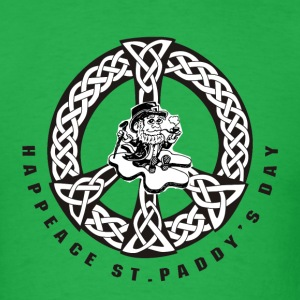 St Patricks Day Leprechaun Peace Shirt - Men's T-Shirt