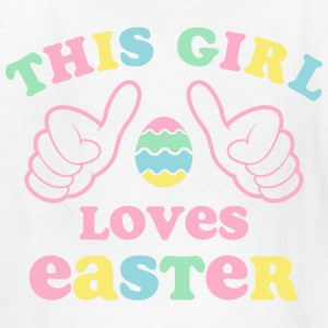 This Girl Loves Easter Kids' Shirts - Kids' T-Shirt
