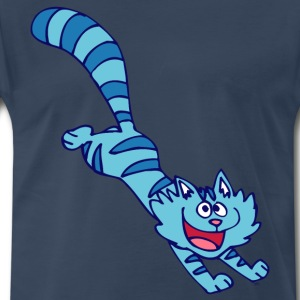 Blue Cartoon Cat by Cheerful Madness!! T-Shirts - Men's Premium T-Shirt