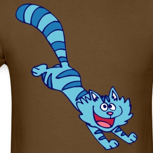 Blue Cartoon Cat by Cheerful Madness!! T-Shirts - Men's T-Shirt