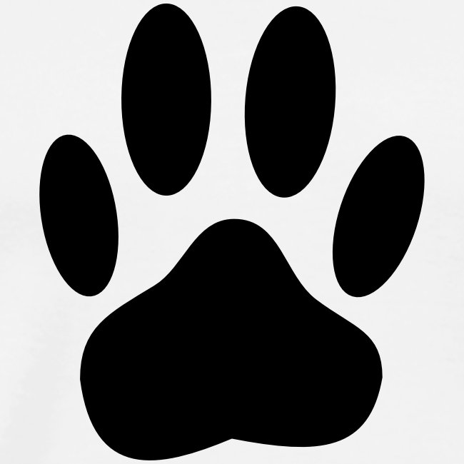 Cool Prints For All Black Dog Paw Print Mens Premium T Shirt