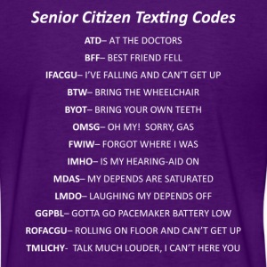 Senior Citizen Texting Codes - Women's T-Shirt