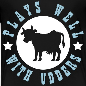 Plays well with udders Baby & Toddler Shirts - Toddler Premium T-Shirt