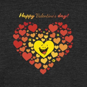 Happy Valentine's Day T'shirt - Unisex Tri-Blend T-Shirt by American Apparel