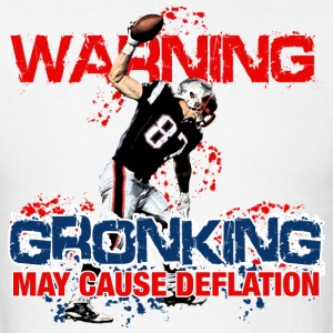 Warning Gronking May Cause Deflation T-Shirts - Men's T-Shirt